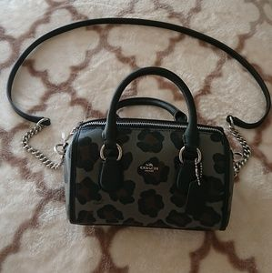 Coach Baby Bennett Satchel with Ocelot Print
